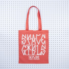 Space Girls Tote Bag Red