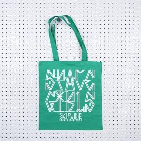 Space Girls Tote Bag Green