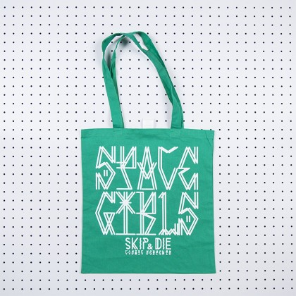 Space Girls Tote Bag Green
