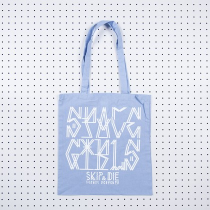 Space Girls Tote Bag Blue