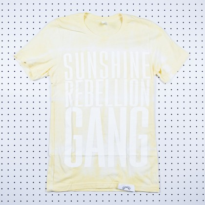 Sunshine Rebellion Gang Tie Dye Shirt Yellow