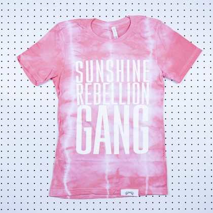 Sunshine Rebellion Gang Tie Dye Shirt Red