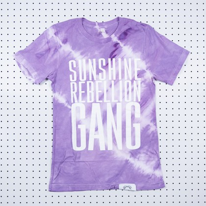 Sunshine Rebellion Gang Tie Dye Shirt Purple